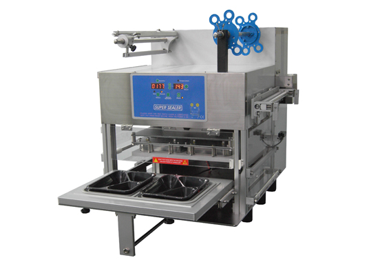 Automatic Cup Sealing Machine Twin Cavity