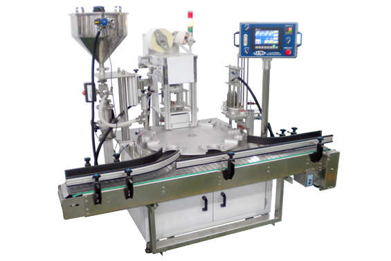 Rotary Type Jar Filling , Sealing and Capping Machine