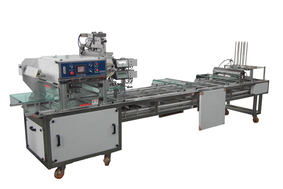 Linear Type Tray Sealing Machine With Vacuum / MAP